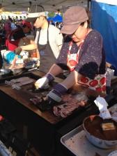 Grilling Fresh Squid