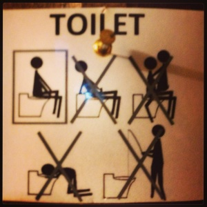 Hehe..You know you're at a hostel when...