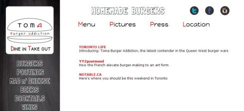 TOMA Burger Addiction Press