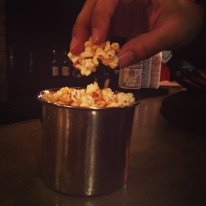 Glorious duck fat popcorn