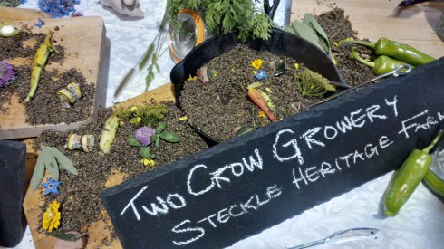 Edible SOIL along with pickled carrots (Walper Hotel & Two Crows Growery)