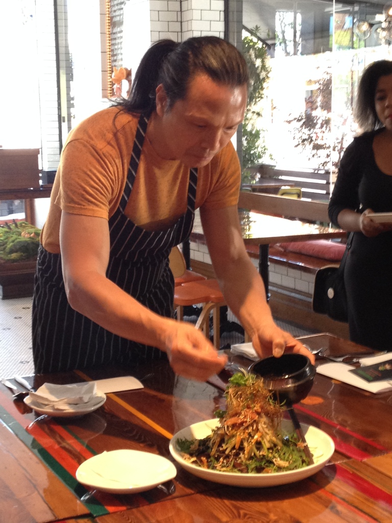 Susur Lee preparing *Tingly* Chilled Soba !