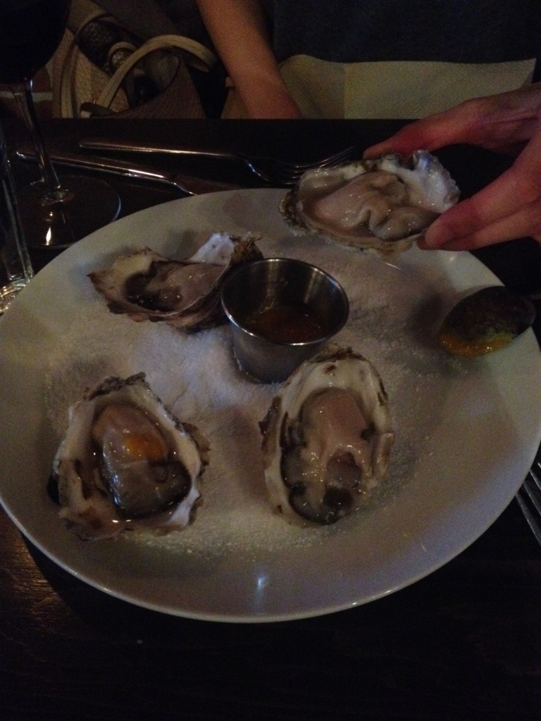 Oysters from Salt Spring Island